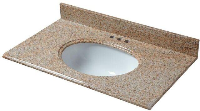 Granite Vanity Top In Ash With No Bowl