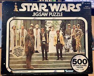 RARE / ERROR 1977 Star Wars Victory Celebration 500pc Jigsaw Puzzle 40150 Kenner