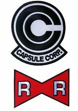 Dragon Ball Z Capsule Corp. +  Red Ribbon Mark Patch set of 2