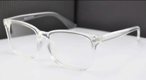 NEW-CRYSTAL-CLEAR-Glasses-Frames-Plastic-Eyeglasses-Unisex-Eyewear-Transparent
