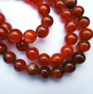 15in-Red-Agate-Round-10mm-Gemstone-Beads-for-Jewellery-Making-Size-mm-10