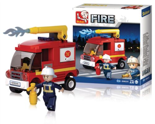 Sluban Building Blocks Fire Serie Small Water Tender M38-B0622C