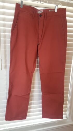 Red Hennepin Chino Various Sizes /& Fits New With Tags Goodfellow /& Co