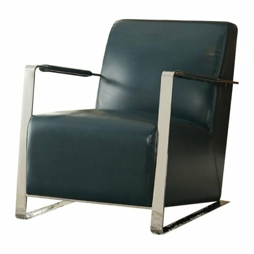ACME Rafael Accent Chair in Teal and Stainless Steel 840412140730