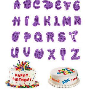 Image Is Loading 26Pcs Set Alphabet Number Letter Fondant Cake Cookie