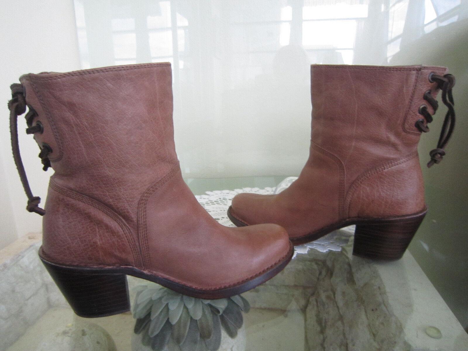 Frye Frye Frye Carmen Short Back Lace Stiefelies damen 5.5 Fawn Leather Ankle Stiefel Western cedbb0