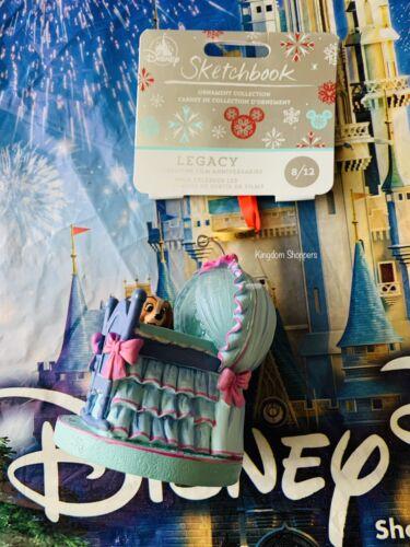 New 2020 Disney Sketchbook Ornament Lady /& The Tramp Bassinet 65th