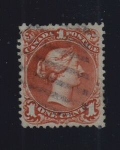 Canada-Sc-22ii-1868-1c-Brown-Red-Large-Queen-on-Bothwell-Paper-F-VF