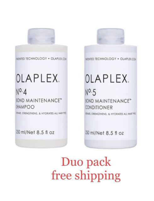 Olaplex No.4 Shampoo 250ml & No.5 Conditioner 250ml Duo Pack Free Fast Shipping