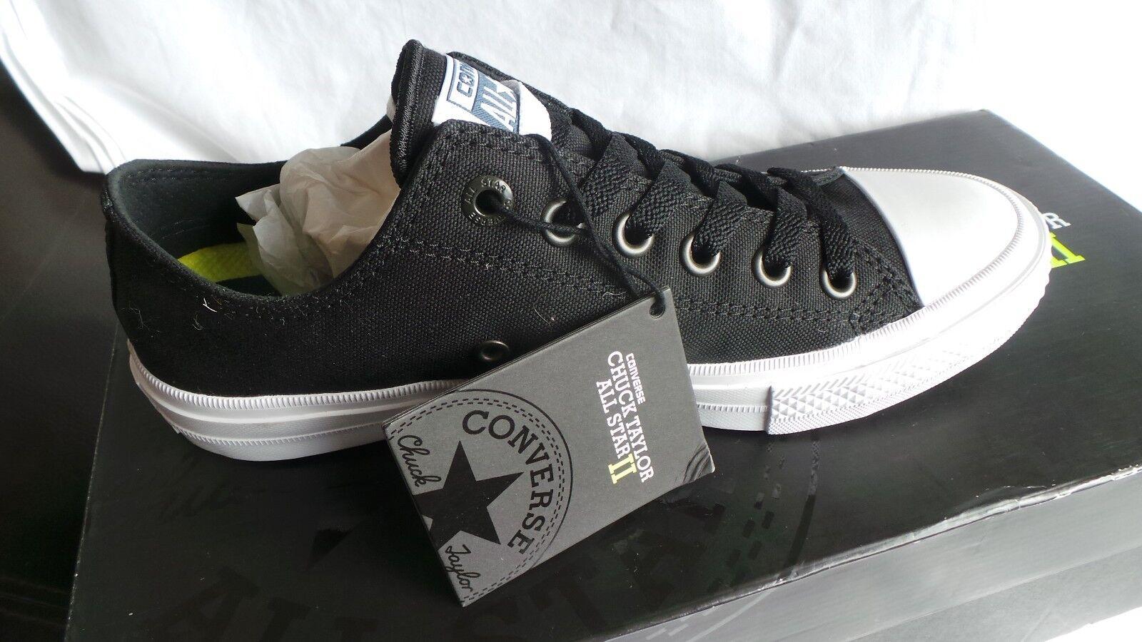 NEW in box Ltd Ed II Converse All Star Chuck II Ed Black Ox trainers Size 6 8f06bb