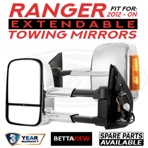 BettaView-Extendable-Towing-Mirrors-FORD-RANGER-2012-To-Current-Chrome-Smoke-Ind