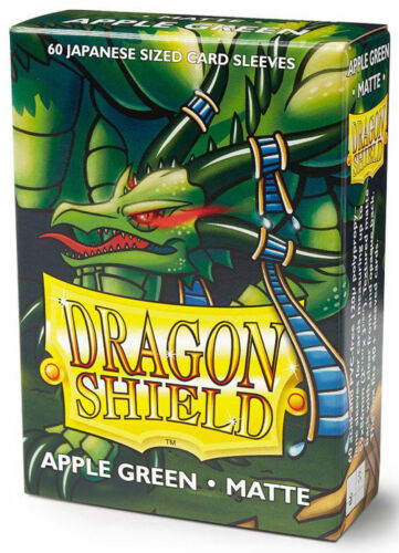 60 DRAGON SHIELD APPLE GREEN MATTE JAPANESE Card Sleeves Mini Deck Protector ccg