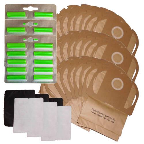filtro cartocci adatto Vorwerk Tiger 250 251 252 30 Sacchetto per aspirapolvere 30 profumo