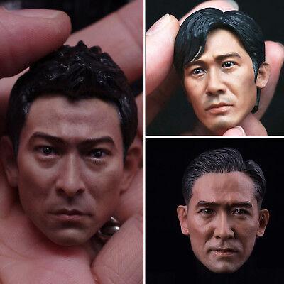 "Blank 1//6 Scale  Infernal Affairs Tony Leung Chiu Head Sculpt Unpainted Fit 12/"""