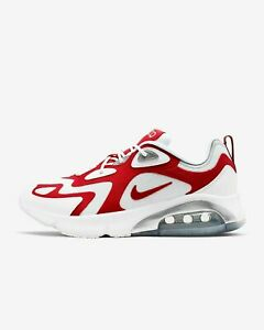 Mens-Nike-Air-Max-200-AQ2568-100-White-University-Red-running-training-New-Sizes