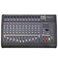 Seismic Audio - Landslide 12p - 12 Channel Dsp Professional Powered Mixer Power on sale