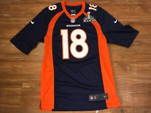 Details about NFL Jersey Peyton manning Super Bowl XLVIII Shirt 18 Denver Broncos