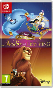 Disney-Aladdin-and-The-Lion-King-Classic-Games-Nintendo-Switch-New-amp-Sealed