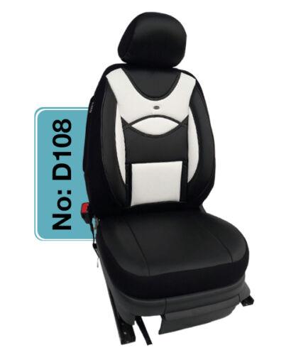 Opel Meriva A MAß Schonbezüge Sitzbezug 1+1 Sitzbezüge D108 Schwarz-Weiß