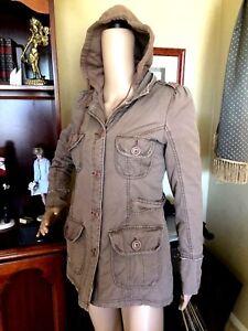 641d44b2df7 Roxy Sudadera con capucha para mujer Juniors Caqui Militar Pea ...