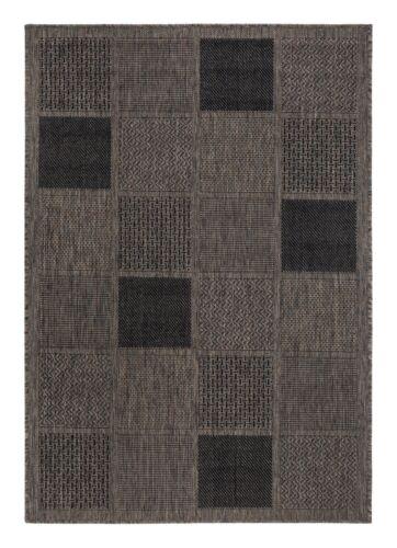 Flachgewebe Teppich kurzflor Lutah Taupe in 3 Größen Bestellbar