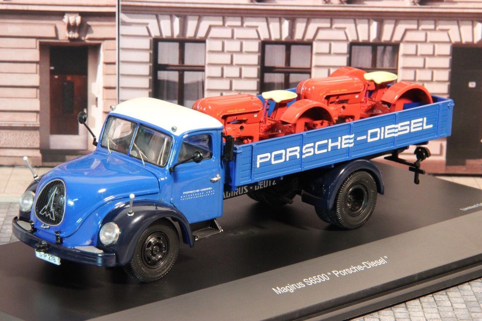 Schuco 03167 Magirus S6500 mit 2 x Porsche Diesel 1 43 1 1000  | Verrückte Preis