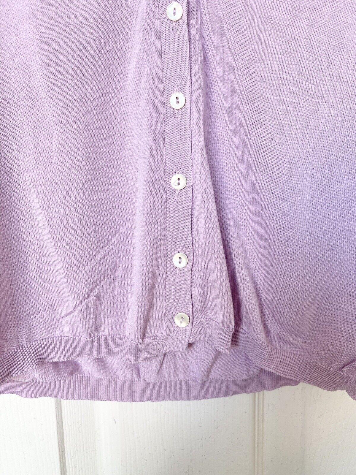Malo Lilac Lightweight Cardigan Size 42 IT / US 6 - image 2
