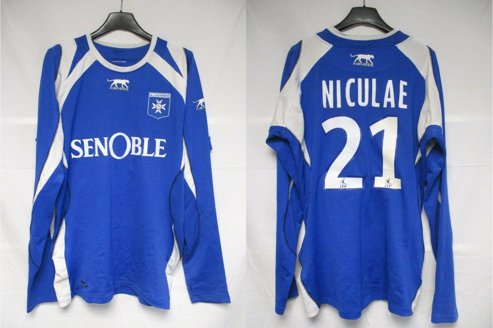 Maillot AJA AUXERRE 2009 AIRNESS Daniel NICULAE n°21 shirt Manches longues LS L