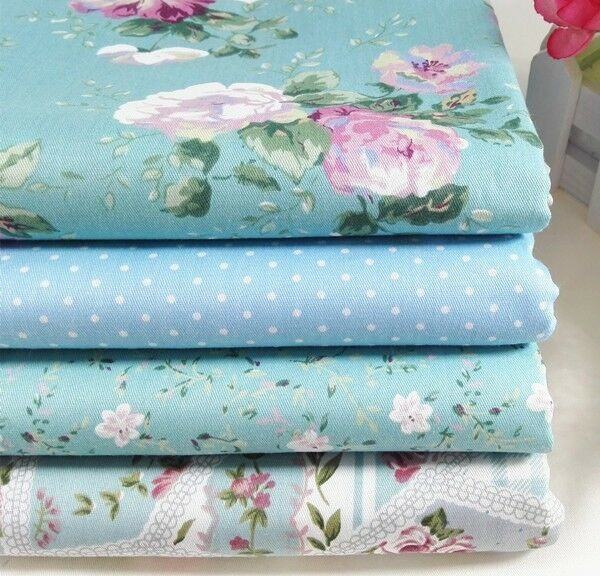 40x50cm 4pcs patchwork cotton fabric sewing tissue craft quilt doll cloth tecido