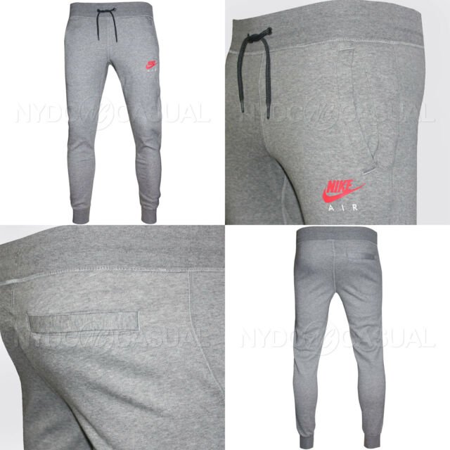 New Men's Nike Air Fleece Heritage Sweatpants Jogger Bottoms Sweat Jogging Pants