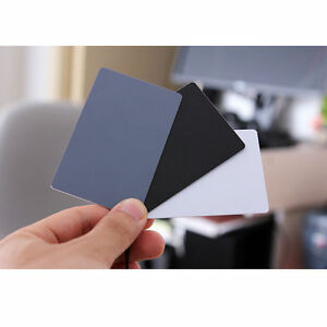 3-in-1-Pocket-Size-Digital-White-Black-Grey-Balance-Cards-18-Gray-Card-New-NYFK