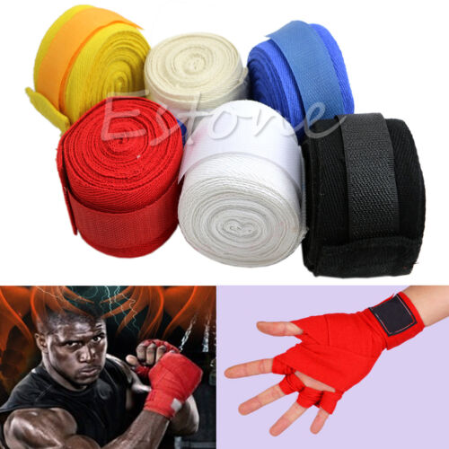 1 Pair New 3M Boxing Hand Wraps Boxing Bandages Wrist Protecting Fist Punching