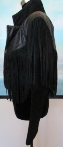 Scully cuir Blouson Western daim noir et noir en ZzgzqF