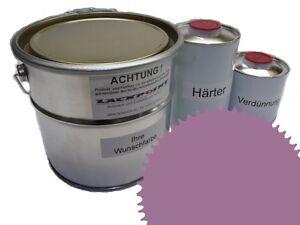 3 Liter Set 2K Floor Coating Ral 4009 Purple Shine Floor Color Workshop