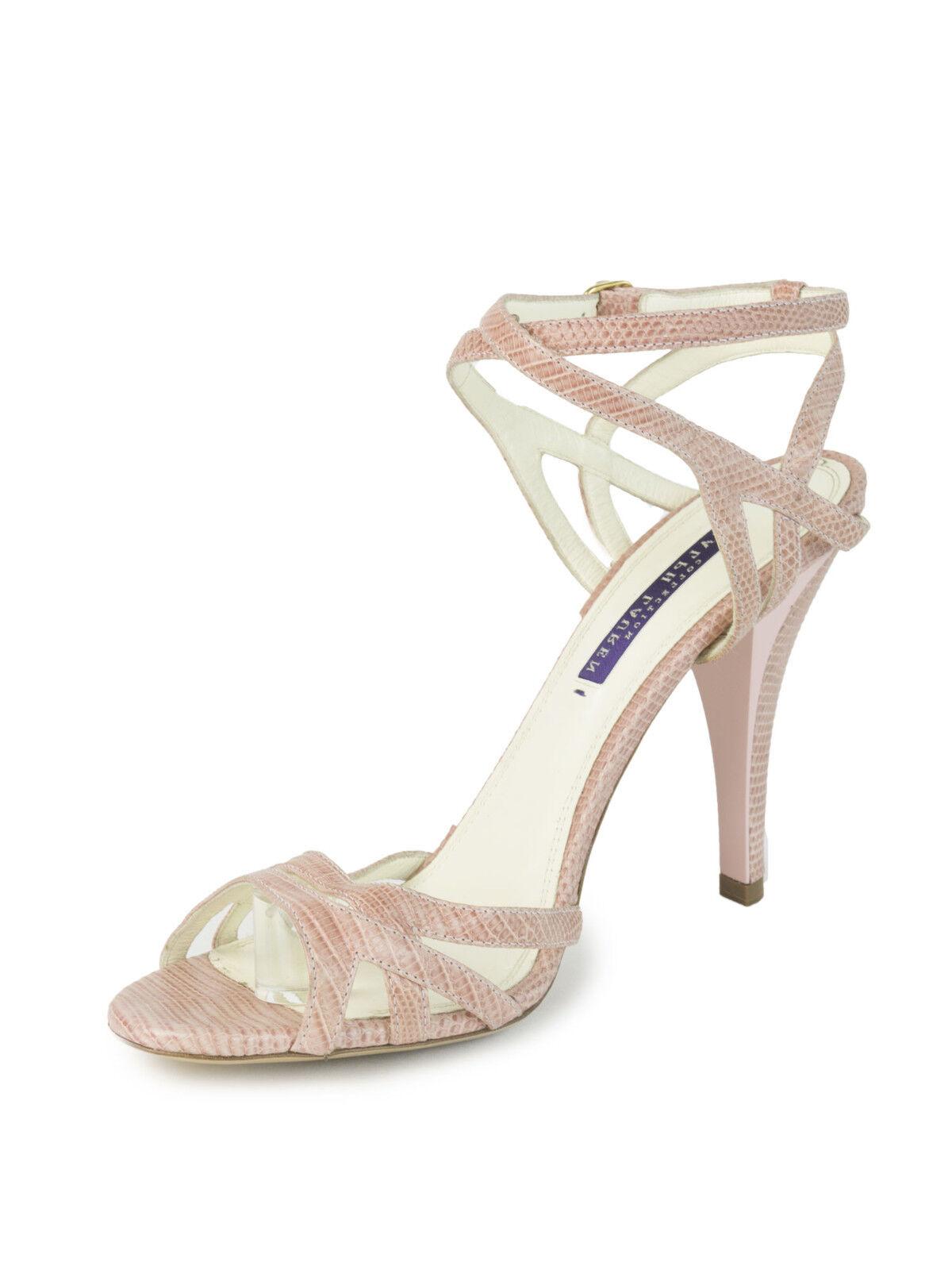 Ralph Lauren púrpura Label Mujer rosado Sandalias De Lagarto Punta Punta Punta Abierta Talla 9.5  625 Nuevo  ventas de salida