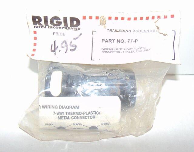 bargman 54-77-003 plastic 7-blade plug trailer connector