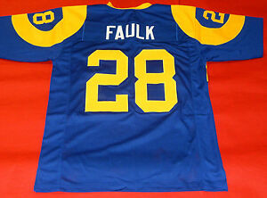 low priced 9429c 5ec31 Details about MARSHALL FAULK CUSTOM ST LOUIS RAMS THROWBACK JERSEY