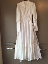 Vintage 70s Full Length Cotton Prairie Style Dress Miscellanea Yeovil Somerset