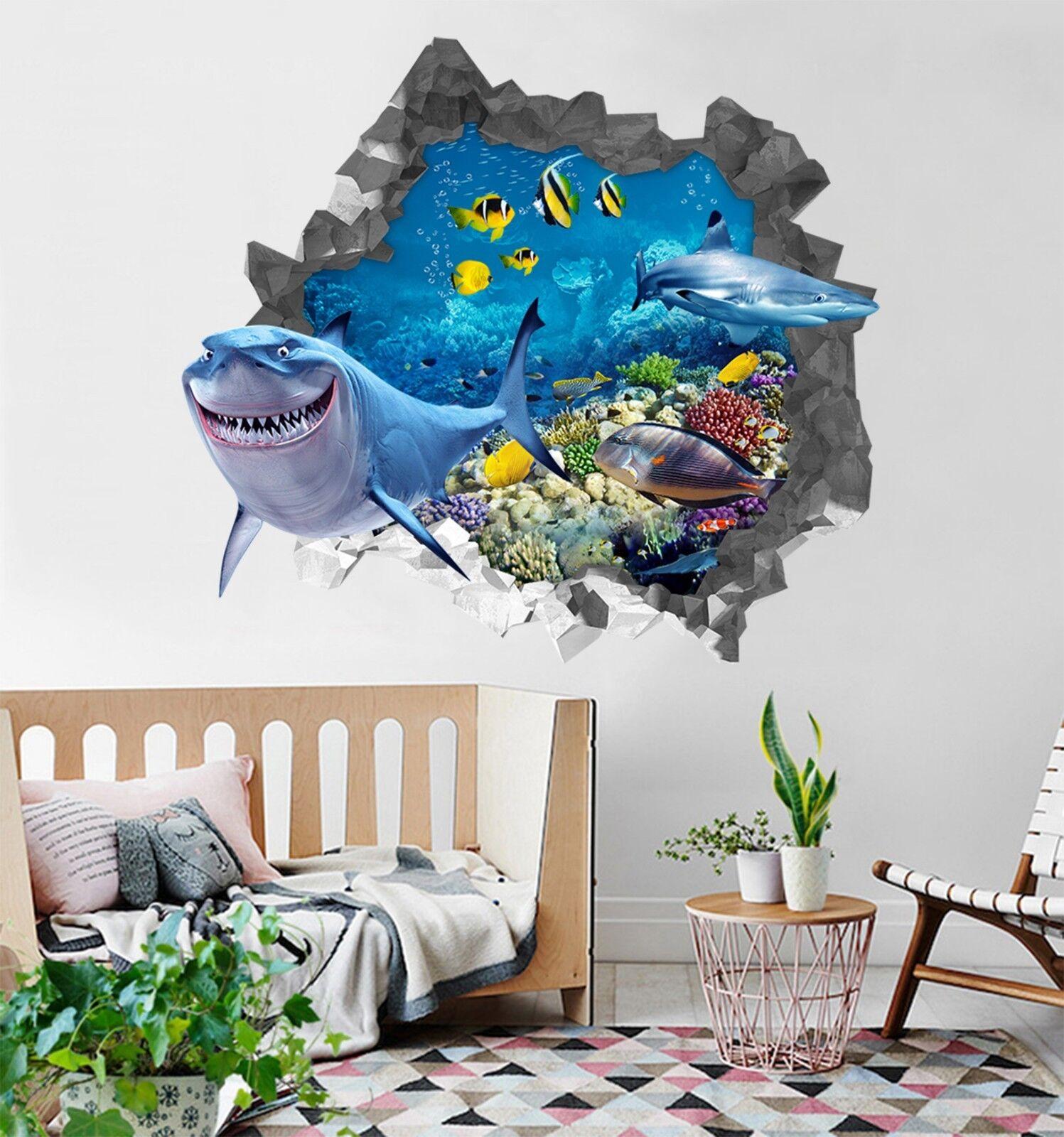 3D Meeresboden 311 Mauer Murals Mauer Aufklebe Decal Durchbruch AJ WALLPAPER DE