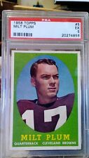 1958 Topps Milt Plum #5 Football Card