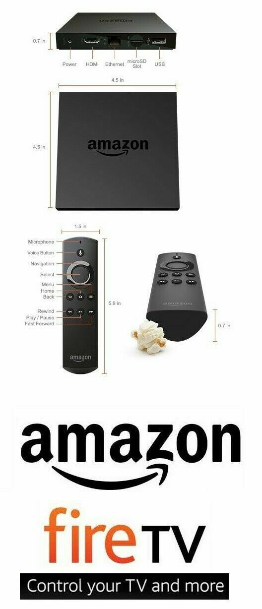 Amazon Fire TV Box 4K HD 2nd Generation Streamer DV83YW Remote Gen Stick Ultra. Available Now for 80.00