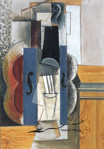 Kunstpostkarte Un violon accrochè au mur Pablo Picasso