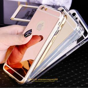 Luxury-Ultra-Slim-Mirror-Back-Soft-Silicone-TPU-Clear-Bumper-Phone-Case-Cover