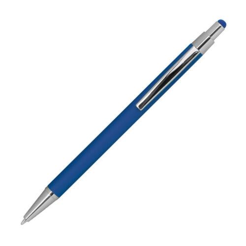 gummiert 10 Touchpen Kugelschreiber aus Metall Farbe blau