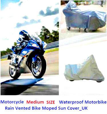 Motorcycle Waterproof Dust Protector Outdoor Motorbike Rain Vented Bike Cover T