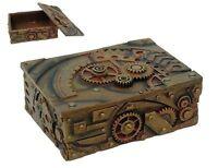 Steampunk Antique Jewelry Box Vintage Decor Figurine Gear Clockwork Design