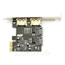 Esata PCI-E PCI Express 6Gbps to SATA 3.0 SATA III 2 Ports ASM106 Card Adapter