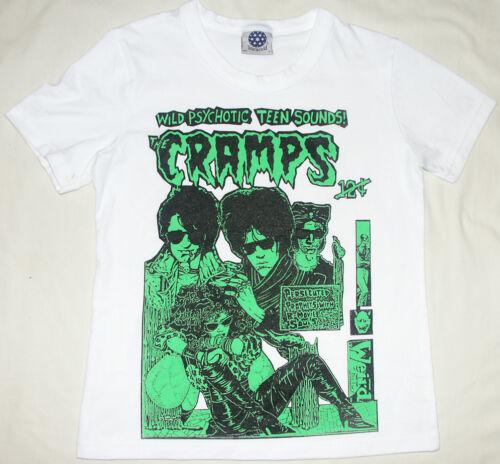 THE crampes UV Vert /& Noir sur Blanc Horreur Punk Cbgbs T Shirt Femme S-2XL