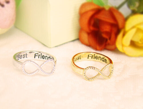 Best Friends Ring Women/'s Infinity Ring Engraved Ring Jewelry Gold Silver plated