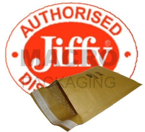 100 /'Jiffy/' Bags Padded Envelopes JL5- Gold